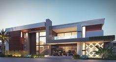 Estudo Playa  #projeto #archilovers #architecture #architecturaldesign #archi #arquitetura Modern Architecture House, Facade Architecture, Beautiful House Plans, Beautiful Homes, New Home Designs, My Dream Home, Exterior Design, New Homes, House Design