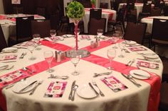 "RRC Gala 2014: fresh crisp green with coral creates bright excitement for the ""Spring Fling"" theme."