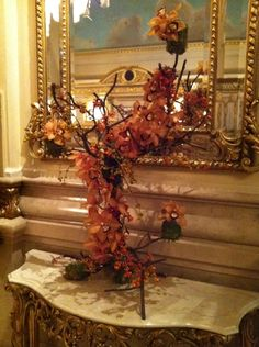 Lovely orchid flower arrangement at St. Regis hotel, NYC