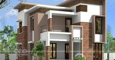 4 BHK, 1980 square feet modern contemporary home plan by 3D view - architects from Calicut, Kerala.