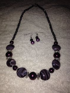 Necklace for M-I-L. She wanted classy, subtle, purple