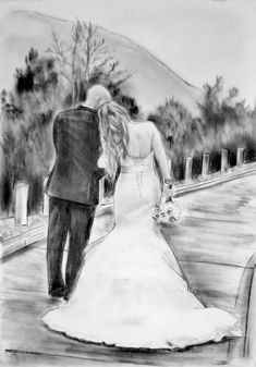 Custom charcoal portrait Romantic painting anniversary gift for her Romantic wedding gift Pencil drawing from photo - Handmade For Sale Personalised Gifts For Husband, Gifts For Fiance, Birthday Gifts For Husband, Anniversary Gifts For Husband, Paper Anniversary, Couple Gifts, Wedding Anniversary, Men Birthday, Engagement Gifts For Her