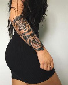 132 Bangin' (and Beautiful) Tattoos - Sexy Tattoos For Women Fierce Tattoo, Badass Tattoos, Body Art Tattoos, Hand Tattoos, Girl Tattoos, Woman Tattoos, 100 Tattoo, Thigh Tattoos Girls, Tatoos