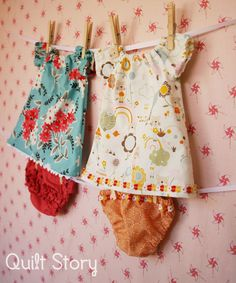 Quilt Story: cute baby peasant dresses from sew much ado free pattern