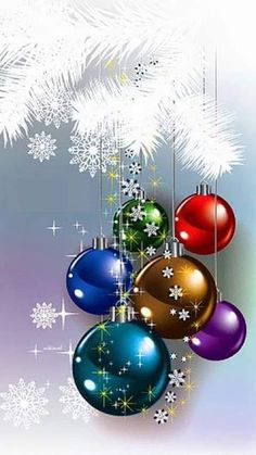 Looking for for inspiration for christmas background?Navigate here for cool Xmas inspiration.May the season bring you peace. Christmas Scenes, Christmas Balls, Christmas Art, Christmas Greetings, Winter Christmas, Christmas Decorations, Christmas Quotes, Wallpaper Natal, Illustration Noel