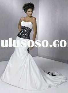 Two toned wedding dress