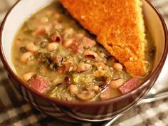New Year Stew, a hearty stew with black eyed peas and collard greens