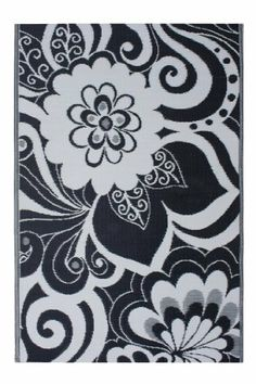Fab Habitat 4-Feet by 6-Feet Maui Indoor/Outdoor Rug, Black and Cream by Fab Habitat - Fab Rug. $48.00. Suitable for indoor and outdoor uses; Lightweight: comes with jute bag. Washable: just shake or hose off for easy cleaning. Reversible: change the look of your decor. Actual colors may vary from the image(s) shown due to manufacturing limitations. Woven from straws made up of recycled plastic. The Maui rug incorporates a psychedelic design that is sure to make everyone look t...