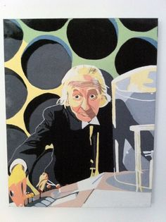 """The first Doctor Who - William Hartnell - 18"""" x 14"""" Canvas"""