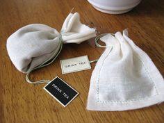 Homemade favors- tea bags
