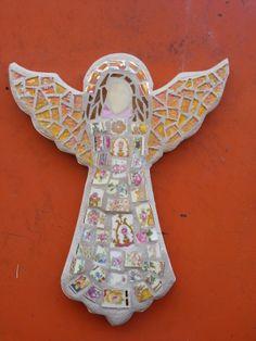 Angel mosaic made by Gloria.
