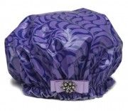 Dry Divas Shower Cap - Plum in Love http://bluegiraffeboutique.com/shower-caps/