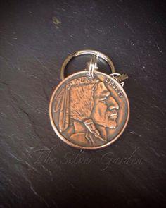 Copper Coin Keyring, 1/2oz, State Mint, Indian Head Key Ring, Buffalo Key Ring, Liberty Key Ring, Coin Keyring, Key Fob, Key Chain, Key Ring