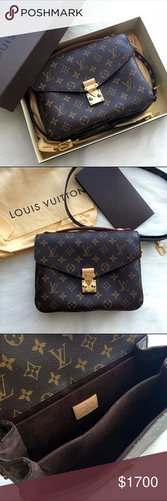 NIB LOUIS VUITTON POCHETTE METIS MONOGRAM BAG Brand new never used, purchased on Dec. 30th 2015 at LV boutique on 5th avenue. I can't believe that I had forgotten about this purchase, I love this bag not only because it is an iconic design but goes with every outfit! But I simply have way too many bags so I am letting it go. Louis Vuitton Bags Crossbody Bags