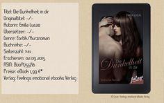 """Mit """"Die Dunkelheit in dir"""" schreibt Emilia Lucas einen erotischen Roman, in dem die Sexszenen im Vordergrund stehen und die Story in den Hintergrund rückt. Langwierige erotische Szenen nahmen mir das Prickeln und behinderten mich, in die Geschichte abzutauchen. ~ seitenweise Sexszenen ~ durchschaubare Story ~ angenehmer Schreibstil ~ sinnlich"""