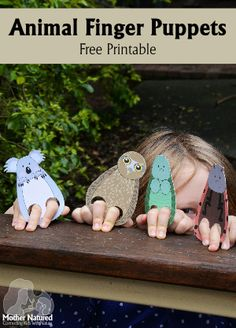 Printable Animal Finger Puppets for Kids - Mother Natured Animal Activities, Infant Activities, Craft Activities, Christmas Art For Kids, Christmas Child, Australia Crafts, Animal Classification, Puppets For Kids, Australia Animals