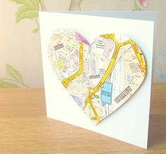 Sheffield map card from Pink Flamingo. Lots of places in Sheffield available <3 £3.50