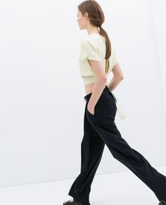 Image 2 of STUDIO TOP WITH BACK OPENING from Zara