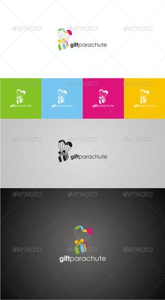 Gift Parachute 100 vector, resizeable and easy to use. Logo Design Template, Logo Templates, Gift Logo, Gift Box Design, Ecommerce Logo, Personal Logo, Logo Images, Typography Logo, Creative Logo
