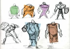 Character sketches By JohnNevarez