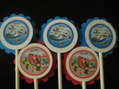 Lego City Cupcake Toppers Set of 24