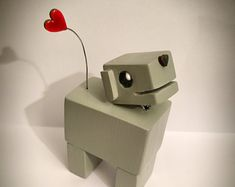 The Original DogBot - Little Wooden Robot Dog by Tiggymus & Co.