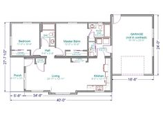 700 Square Foot House Plans Home Plans Homepw18841 1 100 Square Feet 3 Bedroom 2 Bathroom