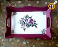 Ahşap boyama tepsi modelleri – Ahşap boyama örnekleri – Keep up with the times. Arts And Crafts Storage, Diy And Crafts, Tole Painting, Painting On Wood, Painted Trays, Decoupage Box, Shabby Chic Farmhouse, Tea Tray, Decorative Boxes