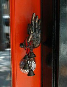 door handle with bells