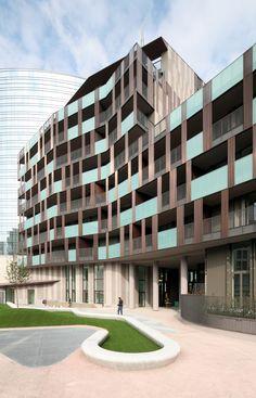 cino zucchi architetti / la corte verde di corso como, porta nuova milano