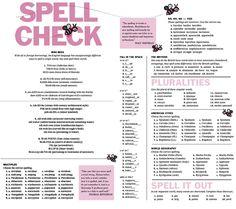 #English #Language #Spelling #Infographic