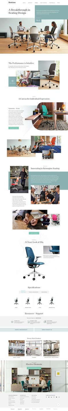 Steelcase Silq – Product Page Ui design concept by jason kirtley