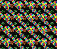 Rainbow Road fabric by elizabeth_wilson on Spoonflower - custom fabric