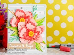 Card Making Kits, Making Ideas, Small Flowers, Cut Flowers, Altenew Cards, Pretty Cards, To Color, Flower Cards, Peonies