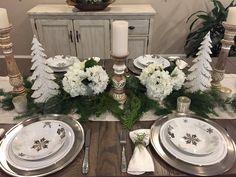 Holiday Tablescape....for Christmas or winter