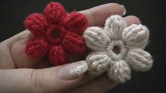 Blume häkeln - einfach und schnell - 6 Blätter - 3D Blume
