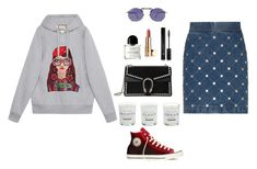 """hip hop"" by vasilikh on Polyvore featuring Gucci, Converse, Plum & Ashby, Byredo, Jean-Paul Gaultier and Forever 21"
