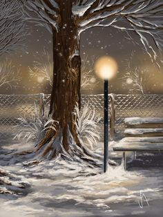 Winter Trilogy 2 by Veronica Minozzi - Winter Trilogy 2 Painting - Winter Trilogy 2 Fine Art Prints and Posters for Sale Winter Scene Paintings, Winter Painting, Winter Art, Dream Pictures, Art Pictures, Prophetic Art, Winter Scenery, Art Background, Winter Landscape