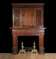 Antique Jacobean Oak Mantelpiece | From a unique collection of antique and modern fireplaces and mantels at https://www.1stdibs.com/furniture/building-garden/fireplaces-mantels/