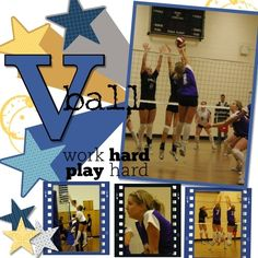 Volleyball Scrapbook Page Ideas - Bing Images
