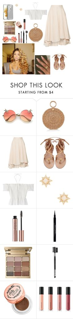 """Untitled #735"" by qwert123456 ❤ liked on Polyvore featuring Burberry, Miguelina, Melanie Auld, Givenchy, Stila, Mary Kay and Bare Escentuals"