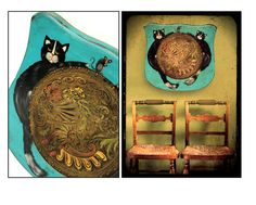 folk art paintingchair bottom19 leather seatfolk by TheAtomicAttic, $78.00