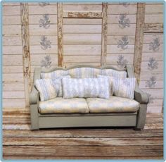 """1/4"""" Up to Camp Couch Kit - this is just the couch, not the full membership. Kit includes the wood and fabric to make this adorable couch!"""
