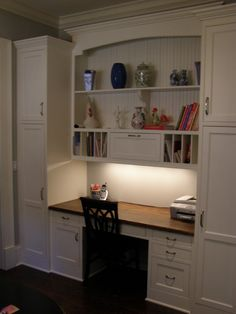 Like tall cabinets on sides for kitchen appliances/storage ... space for cookbooks on shelves