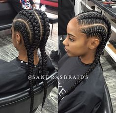 4 Braids Picture 43 cool ways to wear feed in cornrows page 2 of 4 stayglam 4 Braids. Here is 4 Braids Picture for you. African American Braided Hairstyles, African Braids Hairstyles, 4 Braids Hairstyle, Black Girl Braids, Girls Braids, Big Braids, Curly Hair Styles, Natural Hair Styles, Feed In Braid