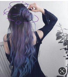 Hair Color Purple, Hair Dye Colors, Cool Hair Color, Dye My Hair, Aesthetic Hair, Grunge Hair, Hair Highlights, Pretty Hairstyles, Unique Hairstyles