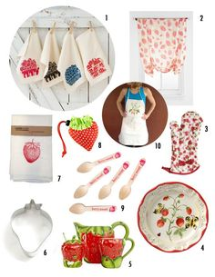 Strawberry Kitchen Finds Under $50   Apartment Therapy - Yes, strawberry stuff! I've been waiting years for the strawberry to become trendy!