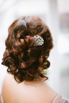 Curly updo: http://www.stylemepretty.com/new-york-weddings/new-york-city/2012/03/23/downton-abbey-inspired-photo-shoot-by-firefly-events/ | Photography: Arielle Doneson - http://www.ariellephoto.com/