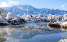 Beautiful Winter Scenery Wallpaper - Wallpapers And Pictures Nature Landscape, Mountain Landscape, Landscape Photos, Scenery Wallpaper, Landscape Wallpaper, Nature Wallpaper, Hd Wallpaper, Bridge Wallpaper, Landscape Photography