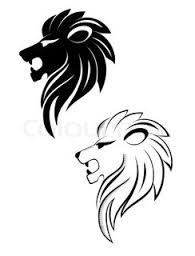 lion face line drawing - tattoo?